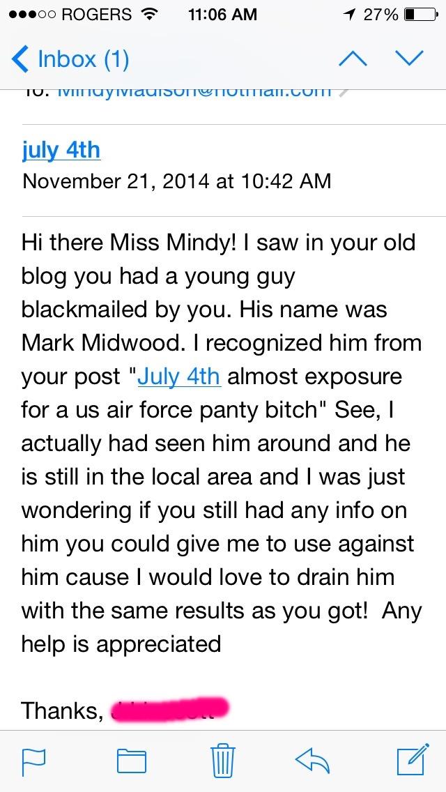 blackmail fetish